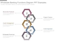 Wholesale Banking Functions Diagram Ppt Examples