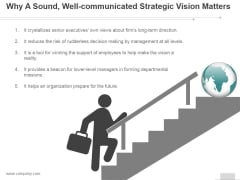 Why A Sound Well Communicated Strategic Vision Matters Ppt PowerPoint Presentation Background Images