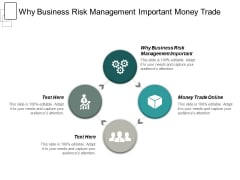 Why Business Risk Management Important Money Trade Online Ppt PowerPoint Presentation File Inspiration Cpb