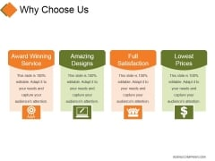 Why Choose Us Template 1 Ppt PowerPoint Presentation Icon Grid