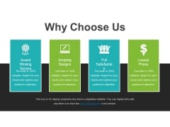 Why Choose Us Template 2 Ppt PowerPoint Presentation Pictures Clipart