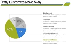 Why Customers Move Away Ppt PowerPoint Presentation Slides Themes