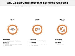 Why Golden Circle Illustrating Economic Wellbeing Ppt PowerPoint Presentation Infographic Template File Formats PDF