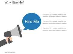 Why Hire Me Ppt PowerPoint Presentation Clipart