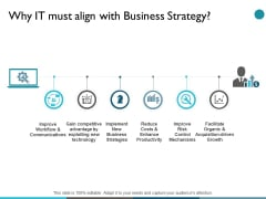 Why IT Must Align With Business Strategy Ppt PowerPoint Presentation Infographics Graphics Design