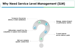 Why Need Service Level Management Slm Ppt PowerPoint Presentation File Outfit