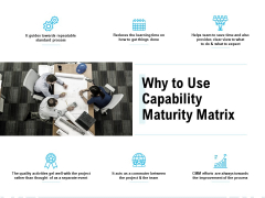 Why To Use Capability Maturity Matrix Ppt PowerPoint Presentation Infographics Master Slide