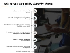 Why To Use Capability Maturity Matrix Ppt PowerPoint Presentation Styles Backgrounds