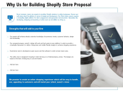 Why Us For Building Shopify Store Proposal Ppt PowerPoint Presentation Portfolio Show