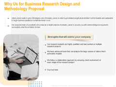 Why Us For Business Research Design And Methodology Proposal Download PDF