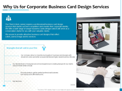 Why Us For Corporate Business Card Design Services Introduction PDF