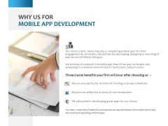 Why Us For Mobile App Development Ppt PowerPoint Presentation File Slides
