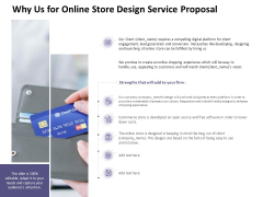 Why Us For Online Store Design Service Proposal Ppt PowerPoint Presentation Layouts Picture