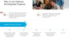 Why Us For Software Development Proposal Ppt Professional Layouts PDF