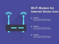 Wi Fi Modem For Internet Vector Icon Ppt PowerPoint Presentation Ideas Deck PDF