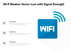 Wi Fi Modem Vector Icon With Signal Strength Ppt PowerPoint Presentation File Template PDF