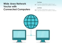 Wide Area Network Vector With Connected Computers Ppt PowerPoint Presentation Inspiration Icon PDF