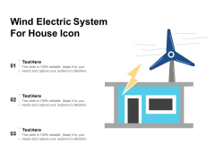 Wind Electric System For House Icon Ppt PowerPoint Presentation File Clipart PDF
