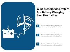 Wind Generation System For Battery Charging Icon Illustration Ppt PowerPoint Presentation File Summary PDF