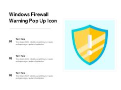 Windows Firewall Warning Pop Up Icon Ppt PowerPoint Presentation File Model PDF