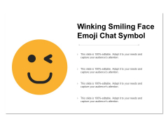 Winking Smiling Face Emoji Chat Symbol Ppt PowerPoint Presentation Pictures Model