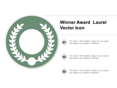 Winner Award Laurel Vector Icon Ppt Powerpoint Presentation File Infographic Template