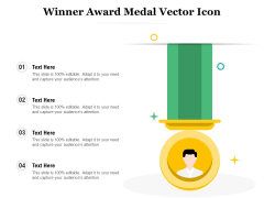 Winner Award Medal Vector Icon Ppt PowerPoint Presentation Gallery Graphic Tips PDF