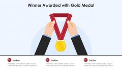 Winner Awarded With Gold Medal Ppt Slides Clipart Images PDF