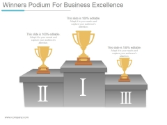 Winners Podium For Business Excellence Ppt PowerPoint Presentation Inspiration