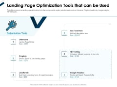 Winning New Customers Acquisition Strategies Landing Page Optimization Tools That Can Be Used Formats PDF