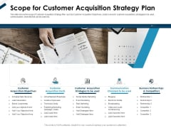 Winning New Customers Strategies Scope For Customer Acquisition Strategy Plan Graphics PDF