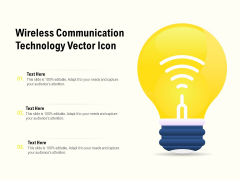 Wireess Communication Technology Vector Icon Ppt Summary Styles PDF
