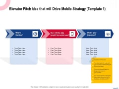 Wireless Phone Information Management Plan Elevator Pitch Idea That Will Drive Mobile Strategy Download PDF