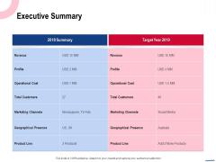 Wireless Phone Information Management Plan Executive Summary Infographics PDF