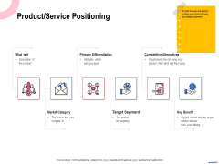 Wireless Phone Information Management Plan Product Service Positioning Template PDF