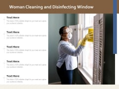 Woman Cleaning And Disinfecting Window Ppt PowerPoint Presentation File Graphics Example PDF