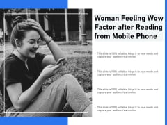 Woman Feeling Wow Factor After Reading From Mobile Phone Ppt PowerPoint Presentation File Guidelines PDF