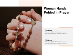 Woman Hands Folded In Prayer Ppt PowerPoint Presentation Layouts Diagrams