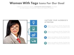 Woman Photo With Business Report Powerpoint Slides