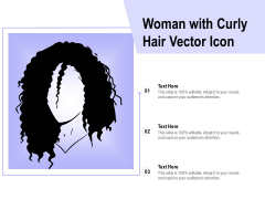 Woman With Curly Hair Vector Icon Ppt PowerPoint Presentation Icon Gridlines PDF