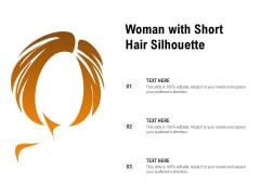 Woman With Short Hair Silhouette Ppt PowerPoint Presentation Model Graphics Design PDF