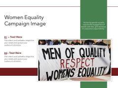 Women Equality Campaign Image Ppt PowerPoint Presentation Show Smartart PDF
