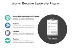 Women Executive Leadership Program Ppt PowerPoint Presentation Portfolio Infographics