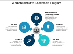 Women Executive Leadership Program Ppt Powerpoint Presentation Styles Diagrams Cpb