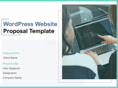 Wordpress Website Proposal Template Ppt PowerPoint Presentation Complete Deck With Slides