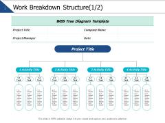 Work Breakdown Structure Management Ppt PowerPoint Presentation Slides Graphics Design