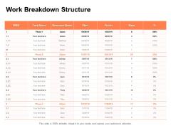 Work Breakdown Structure Ppt PowerPoint Presentation Icon Portfolio