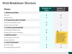 Work Breakdown Structure Ppt PowerPoint Presentation Infographics Brochure