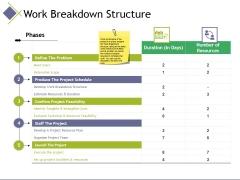 Work Breakdown Structure Ppt PowerPoint Presentation Inspiration Graphics Tutorials