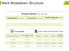 Work Breakdown Structure Ppt PowerPoint Presentation Layouts Rules